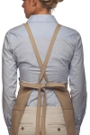 Style 200XX High Quality Professional Three Pocket Criss Cross Bib Aprons - Khaki