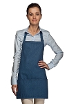 Style 200DN Rounded Three Pocket Denim Bib Apron