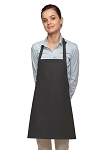 Style 200NP High Quality Professional No Pocket Bib Aprons - Charcoal Gray
