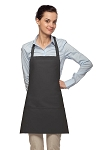 Style 200PD High Quality Professional Three Pocket Bib Aprons w/ Pencil Divide - Charcoal Gray