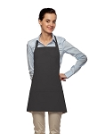 Style 201 High Quality Professional Three Pocket Bib Aprons w/ Pencil Pocket - Charcoal Gray