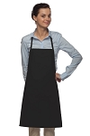 Style 205 Professional Small No Pocket Cover-Up Bib Apron - Black