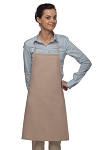 Style 205 Professional Small No Pocket Cover-Up Bib Apron - Khaki