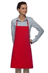 Style 205 Professional Small No Pocket Cover-Up Bib Apron - Red