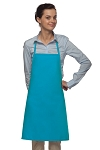 Style 205 Professional Small No Pocket Cover-Up Bib Apron - Turquoise