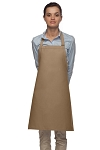 Style 210 Professional Adjustable Neck No Pocket Bib Apron - Khaki