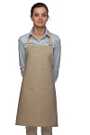 Style 211 Professional Pencil Pocket Bib Apron - Khaki