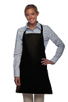 Style 212 Professional Bib w/ Center Divided Pocket Apron - Black