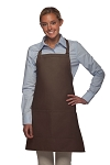 Daystar 212 Professional Bib w/ Center Divided Pocket Apron - Brown