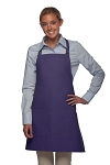 Style 212 Professional Bib w/ Center Divided Pocket Apron - Purple