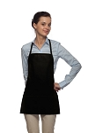 Style 215 EXTRA SMALL Professional Promo Two Pocket Bib Apron - Black