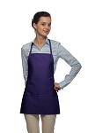 Style 215 EXTRA SMALL Professional Promo Two Pocket Bib Apron - Purple