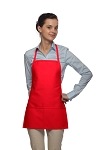 Style 215 EXTRA SMALL Professional Promo Two Pocket Bib Apron - Red