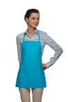 Style 215 EXTRA SMALL Professional Promo Two Pocket Bib Apron - Turquoise