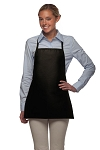Style 215NP Professional Extra Small No Pocket Bib Aprons - Black