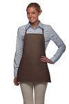 Style 215NP Professional Extra Small No Pocket Bib Aprons - Brown