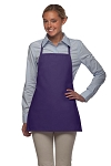 Style 215NP Professional Extra Small No Pocket Bib Aprons - Purple