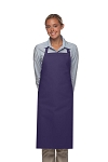 Style 220NP High Quality Professional Large No Pocket Bib Aprons - Purple