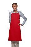 Style 223 Three Pocket Butcher Apron - Red