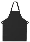 OVERSTOCK Style 230 Professional Two Patch Pocket Bib Apron - Black