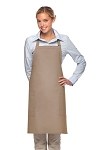 Style 230 Professional Two Patch Pocket Bib Apron - Khaki