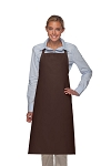 Style 240 Professional Extra Large No Pocket Bib Apron - Brown