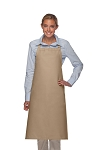 Style 240 Professional Extra Large No Pocket Bib Apron - Khaki