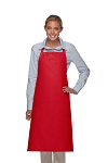 Style 240 Professional Extra Large No Pocket Bib Apron - Red