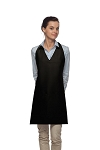 Style 300 High Quality Professional Two Pocket V-Neck Tuxedo Apron - Black