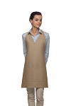 Style 300 High Quality Professional Two Pocket V-Neck Tuxedo Apron - Khaki