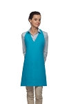 Style 300 High Quality Professional Two Pocket V-Neck Tuxedo Apron - Turquoise