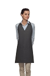 Style 300 High Quality Professional Two Pocket V-Neck Tuxedo Apron - Charcoal Gray