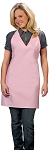 Style 300NP High Quality Professional V-Neck Tuxedo Apron - Pink