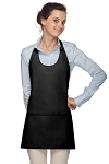 Style 305 High Quality Professional Scoop Neck Tuxedo Apron - Black
