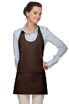 Daystar 305 High Quality Professional Scoop Neck Tuxedo Apron - Brown