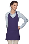 Style 305 High Quality Professional Scoop Neck Tuxedo Apron - Purple
