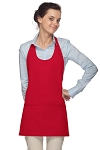 Style 305 High Quality Professional Scoop Neck Tuxedo Apron - Red