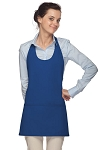 Daystar 305 High Quality Professional Scoop Neck Tuxedo Apron - Royal Blue