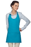 Style 305 High Quality Professional Scoop Neck Tuxedo Apron - Turquoise