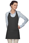 Style 305 High Quality Professional Scoop Neck Tuxedo Apron - Charcoal Gray