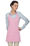 Daystar 305 High Quality Professional Scoop Neck Tuxedo Apron - Pink