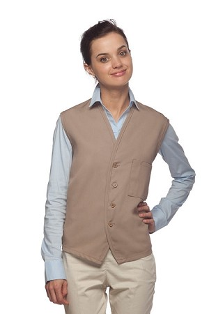 Style 740 High Quality Professional Unisex Vest Apron w/Chest Pocket/Pencil Divide