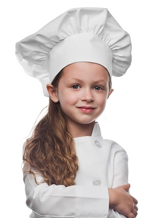 Style 850 Professional Kids Chef Hat - White