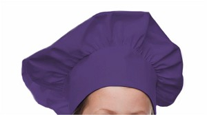 Style 800PL Professional Adult Executive Chef Hat - Purple