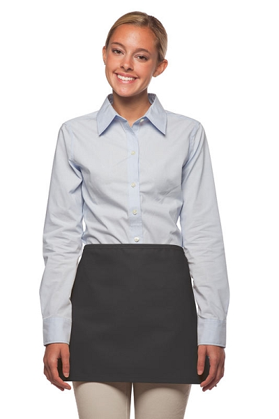 Style: 100NP Professional No Pocket Waist Apron - Charcoal Gray