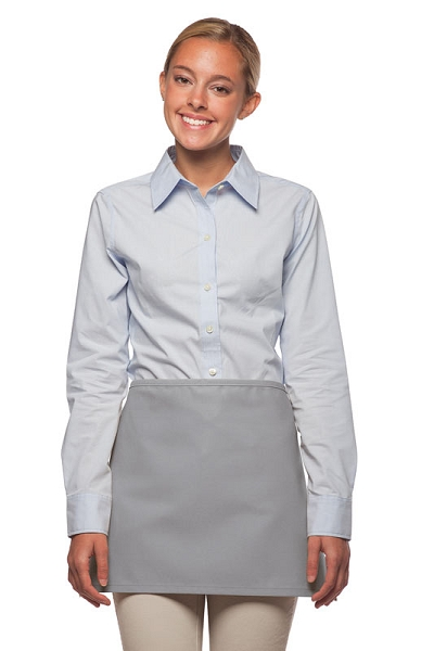 Style: 100NP Professional No Pocket Waist Apron - Silver Gray