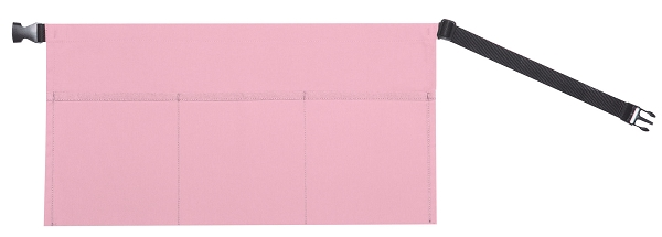 Style 104 Professional Three Pocket Waist Aprons with Buckle - Pink