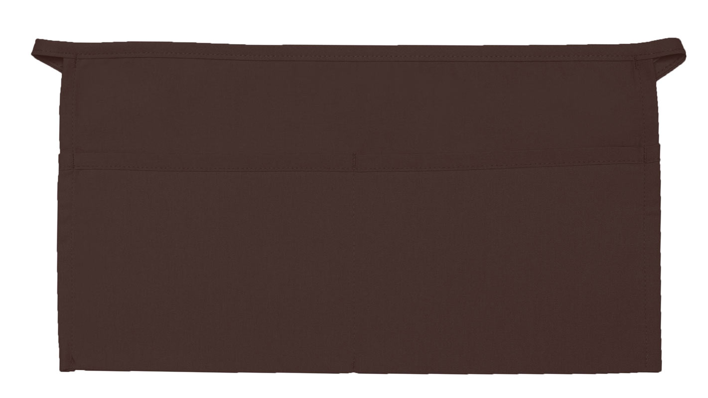 Style 105 Professional Two Pocket Waist Aprons - Brown