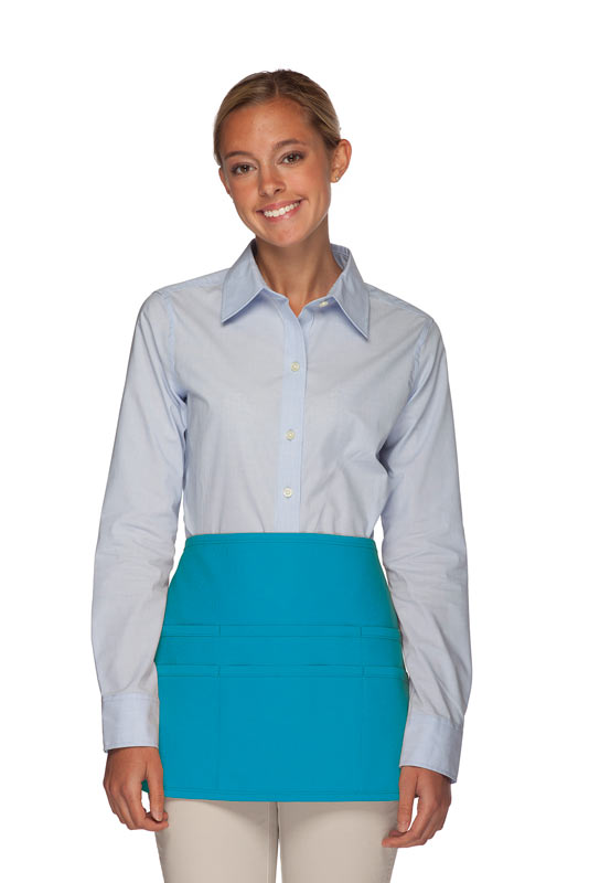 Style 106 Professional SIX Pocket Waist Aprons - 6 Pockets! - Turquoise