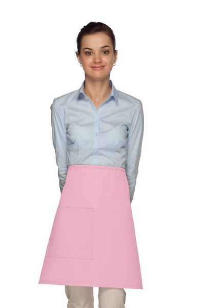 Style 111 Professional One Pocket Half Bistro Apron - Pink
